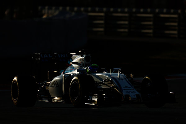 Circuit de Catalunya, Barcelona, Spain Thursday 25 February 2016. Felipe Massa, Williams FW38 Mercedes. World Copyright: Alastair Staley/LAT Photographic ref: Digital Image _79P4788