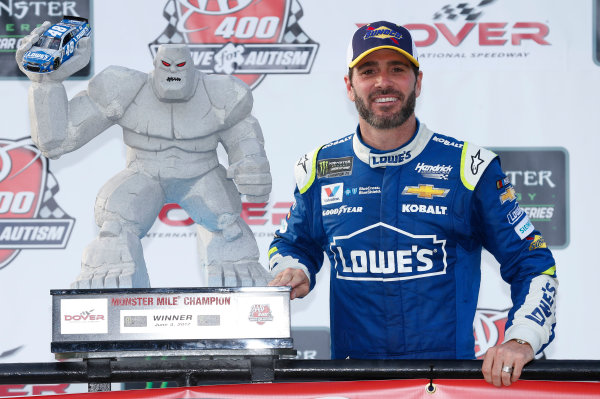 Monster Energy NASCAR Cup Series AAA 400 Drive for Autism Dover International Speedway, Dover, DE USA Sunday 4 June 2017 Jimmie Johnson, Hendrick Motorsports, Lowe's Chevrolet SS World Copyright: Matthew T. Thacker LAT Images ref: Digital Image 17DOV1mt1941