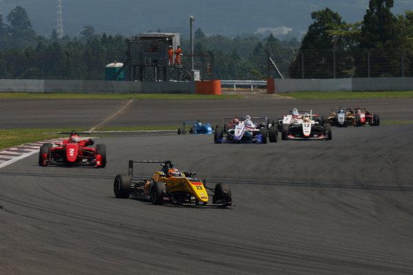 2017 Japanese Formula 3 Championship. Fuji, Japan. 8th - 9th July 2017. Rd 12 & 13. Rd12 Start of the race action World Copyright: Yasushi Ishihara / LAT Images. Ref: 2017JF3_Rd12&13_001