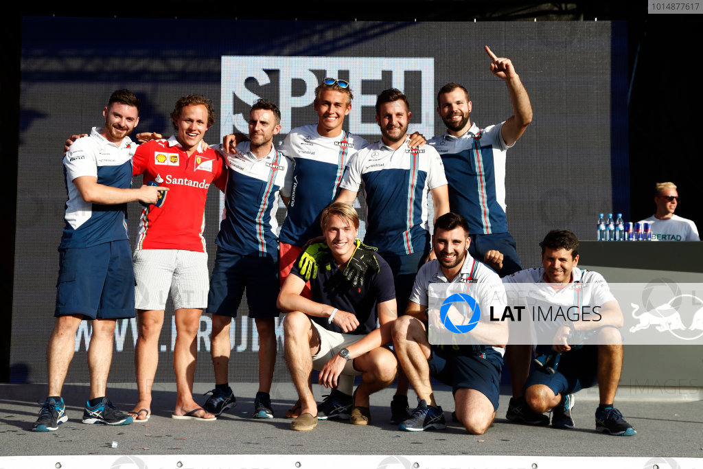 Red Bull Ring, Spielberg, Austria. Saturday 08 July 2017. The Pit Stop Challenge in the F1 fan village. World Copyright: Glenn Dunbar/LAT Images ref: Digital Image _31I6970