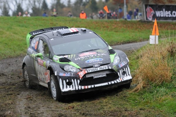 Ken Block (USA), Ford Fiesta RS WRC, on the Shakedown stage.