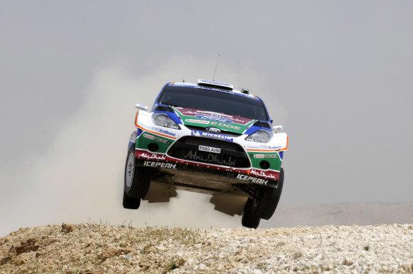 Jari-Matti Latvala (FIN) Ford Fiesta RS WRC on stage 17. World Rally Championship, Rd4, Rally Jordan, Dead Sea, Amman, Jordan, Day 3, Saturday 16 April 2011.