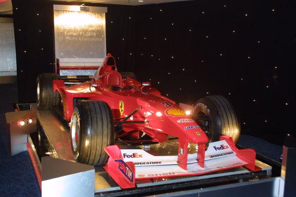 2000 Autosport Awards. Grovesnor House Hotel, Park Lane, England. 3 December 2000. Ferrari F1 2000 on display. World Copyright: Matt Jennings / LAT Photographic. Ref: Colour Transparency.