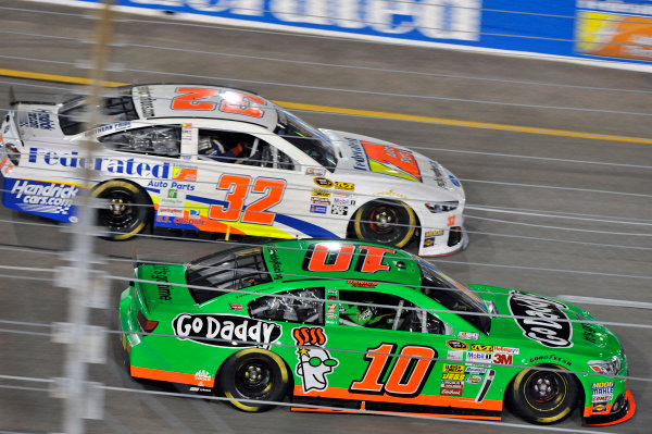 6-7 September, 2013, Richmond, Virginia USA Danica Patrick and Ken Schrader © 2013, Nigel Kinrade LAT Photo USA