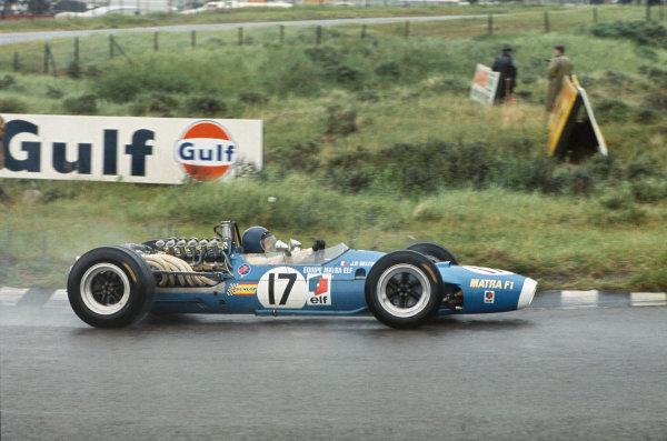 Zandvoort, Holland. 21-23 June 1968.  Jean-Pierre Beltoise (Matra MS11 Ford) 2nd position.  Ref: 68HOL03. World Copyright: LAT Photographic