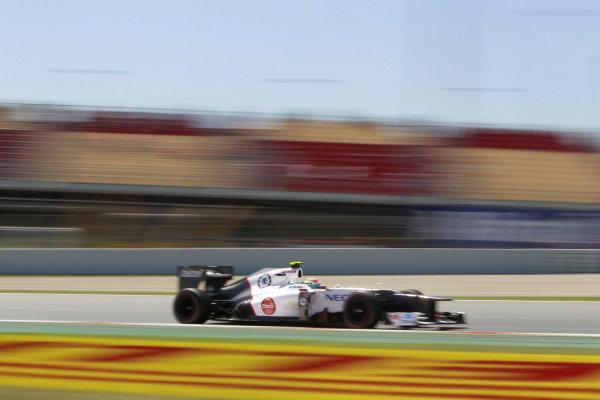 Circuit de Catalunya, Barcelona, Spain11th May 2012Sergio Perez, Sauber C31 Ferrari. World Copyright:Andrew Ferraro/LAT Photographicref: Digital Image  _Q0C8621