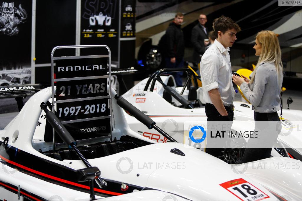 Autosport International Exhibition. National Exhibition Centre, Birmingham, UK. Sunday 14th January 2018. The Radical stand.World Copyright: Joe Portlock/LAT Images Ref: _U9I1711
