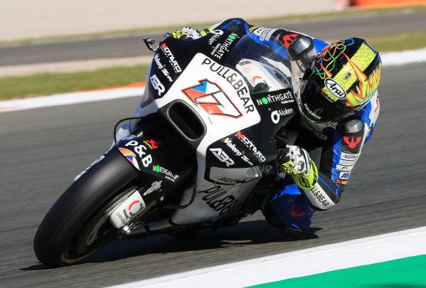 2017 MotoGP Championship - Valencia test, Spain. Tuesday 14 November 2017 Karel Abraham, Aspar Racing Team World Copyright: Gold and Goose / LAT Images ref: Digital Image 706830