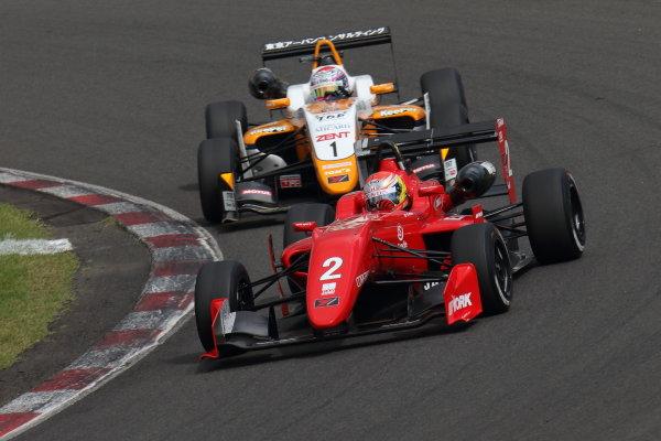 2017 Japanese Formula 3 Championship Sugo, Japan. 23rd - 24th September 2017. Rd 19 & 20. Rd 20 Winner Hiroki Otsu ( #2 TODA RACING ) action World Copyright: Yasushi Ishihara / LAT Images. Ref: 2017_JF3_R19&20_015