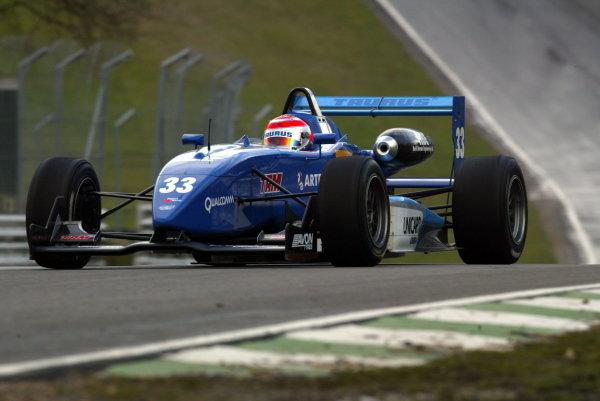 Nelson Piquet JR. (BRA) Piquet SportsBritish Formula Three Championship, Press day.Brands Hatch, Kent, England. 24th March 2004Digital Image