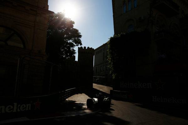 Baku City Circuit, Baku, Azerbaijan. Friday 23 June 2017. Valtteri Bottas, Mercedes F1 W08 EQ Power+. World Copyright: Andy Hone/LAT Images ref: Digital Image _ONZ6115