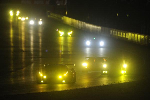 2017 Le Mans 24 Hours Circuit de la Sarthe, Le Mans, France. Sunday 18th  June 2017 #62 Scuderia Corsa Ferrari 488 GTE: Cooper MacNeil, Bill Sweedler, Townsend Bell  World Copyright: JEP/LAT Images