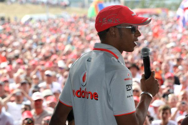 Silverstone, Northamptonshire, England 11th July 2010 Lewis Hamilton, McLarenWorld Copyright: Jakob Ebrey/LAT Photographic