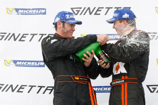 2013 Ginetta GT Supercup Donington Park, 20th-3 Podium World Copyright: Ebrey/LAT Photographic.