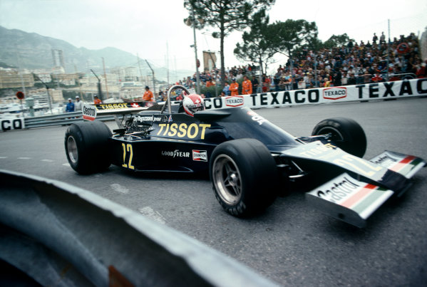 Monte Carlo, Monaco. 20 - 22 May 1977.Clay Regazzoni (Ensign N177-Ford), DNQ, action. World Copyright: LAT Photographic.Ref: 77MON