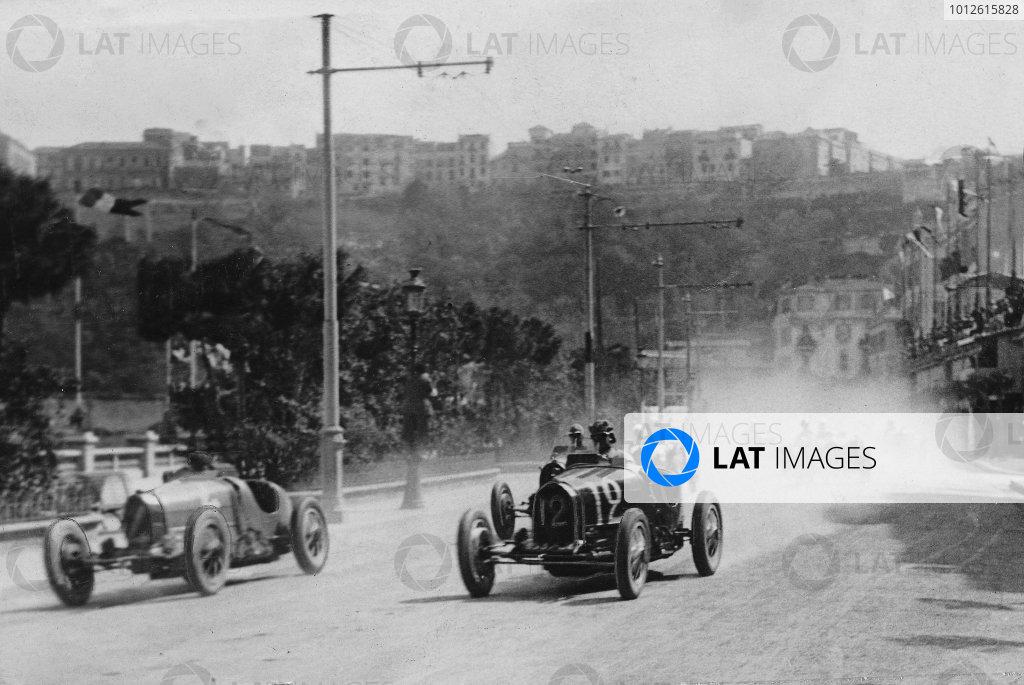 Monte Carlo.14 April 1929.Philippe Etancelin (Bugatti T35C, number 4) and