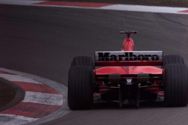 2000 European Grand Prix.Nurburgring, Germany. 19-21 May 2000.Michael Schumacher (Ferrari F1-2000) 1st position.World Copyright - LAT Photographic