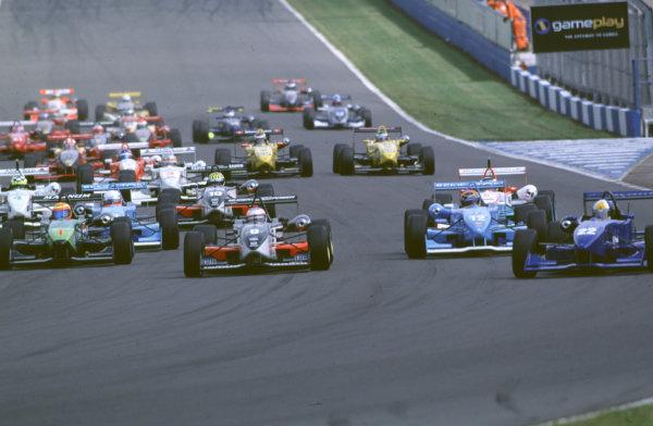 2000 British Formula Three Donington, England. 1st - 2nd July 2000. Rd 7&8. Start of the race. World - Peter Spinney/ LAT Photographic