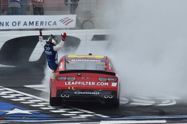 #10: A.J. Allmendinger, Kaulig Racing, Chevrolet Camaro Digital Ally celebrates his win