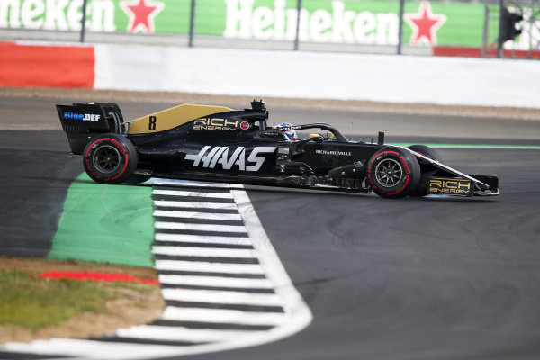 Romain Grosjean, Haas VF-19 spins