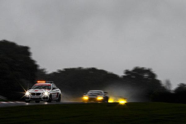 Safety Car leads #42 Richard Williams / Senna Fielding - Steller Motorsport Audi R8 LMS GT4