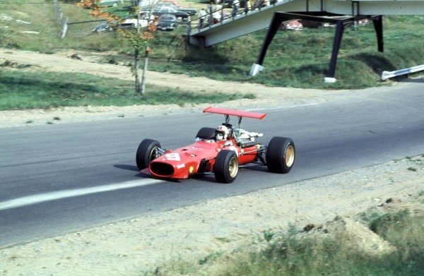 1968 Canadian Grand Prix.Mont-Tremblant, (St. Jovite), Quebec, Canada.20-22 September 1968.Chris Amon (Ferrari 312).Ref-68 CAN 66.World Copyright - LAT Photographic