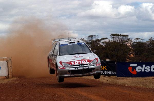 2002 World Rally Championship.Telstra Rally Australia, Perth. October 31st-November 3rd.Harri Rovanpera on the Muresk stage.Photo: Ralph Hardwick/LAT