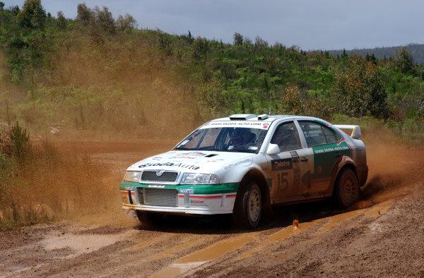 2002 World Rally Championship.Telstra Rally Australia, Perth. October 31st-November 3rd.Toni Gardemeister on stage 3.Photo: Ralph Hardwick/LAT