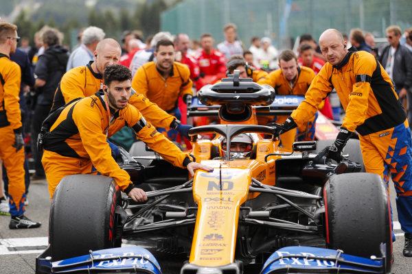 Carlos Sainz Jr, McLaren, on the grid