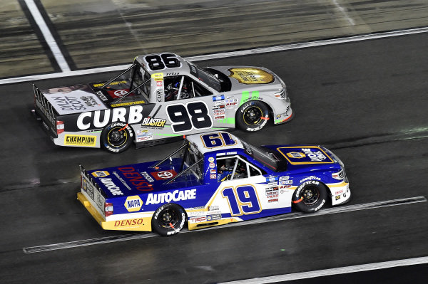 #19: Derek Kraus, McAnally Hilgemann Racing, Toyota Tundra NAPA Auto Care and #98: Christian Eckes, ThorSport Racing, Toyota Tundra