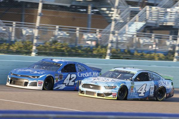 #4: Kevin Harvick, Stewart-Haas Racing, Ford Mustang Busch Light #42: Kyle Larson, Chip Ganassi Racing, Chevrolet Camaro Credit One Bank