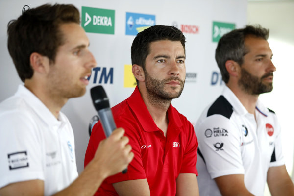 Press Conference, Daniel Juncadella, R-Motorsport, Mike Rockenfeller, Audi Sport Team Phoenix, Timo Glock, BMW Team RMG.