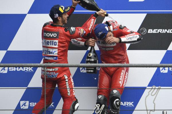 Danilo Petrucci, Ducati Team, Andrea Dovizioso, Ducati Team.