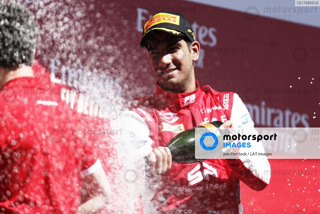 Jehan Daruvala (IND) PREMA Racing, celebrates after winning the race