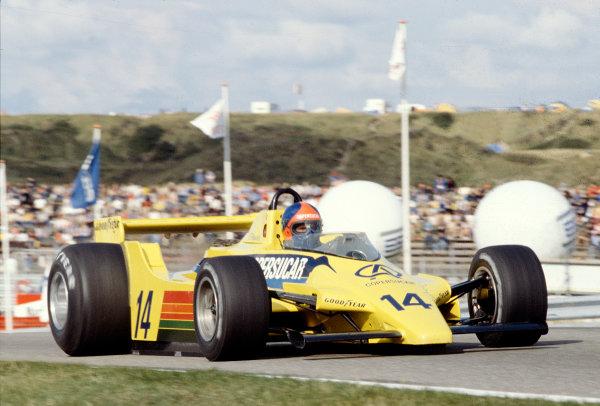 1979 Dutch Grand Prix.Zandvoort, Holland.24-26 August 1979.Emerson Fittipaldi (Fittipaldi F6A Ford).Ref-79 HOL 20.World Copyright - LAT Photographic