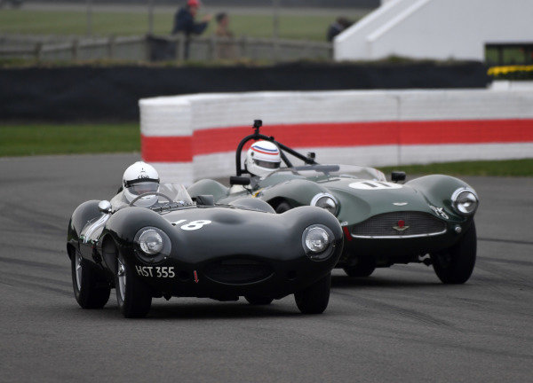 Peter Collins Trophy John Pearson Jaguar D Simon Hadfield Aston DB3S
