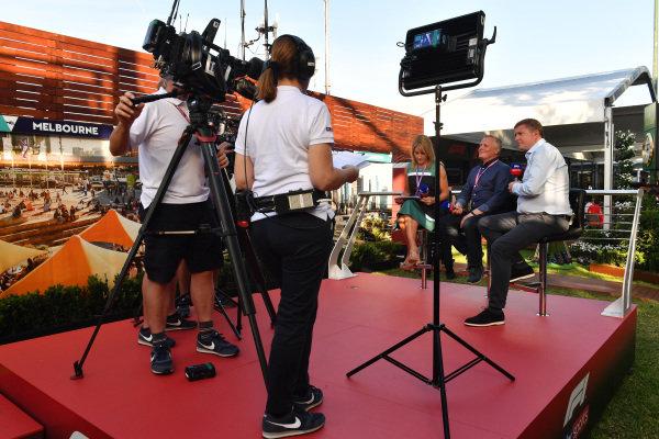 David Croft, Sky TV, Johnny Herbert, Sky TV and Rachel Brooks, Sky TV