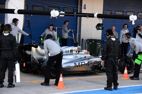 Kevin Magnussen (DEN) McLaren MP4-29. Formula One Testing, Jerez, Spain, Day Three, Thursday 30 January 2014.