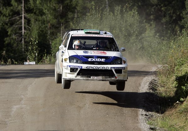2005 FIA World Rally Champs. Round ten Rally Finland.4th - 7th August 2005.Henning Solberg, Ford, action.World Copyright: McKlein/LAT