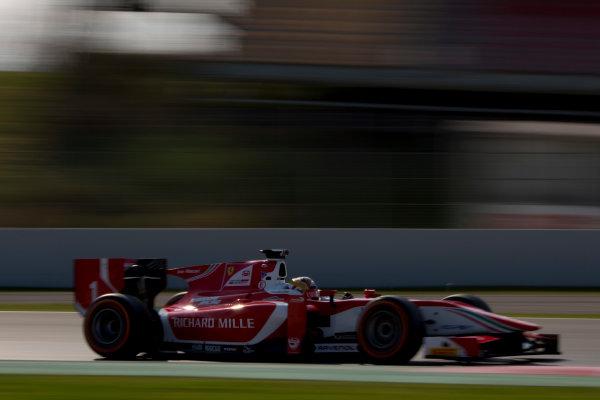 Circuit de Barcelona Catalunya, Barcelona, Spain. Monday 13 March 2017. Charles Leclerc (MON, PREMA Racing). Action.  Photo: Alastair Staley/FIA Formula 2 ref: Digital Image 580A9925