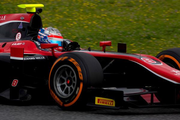 Circuit de Barcelona Catalunya, Barcelona, Spain. Monday 13 March 2017. Alexander Albon (THA, ART Grand Prix). Action.  Photo: Alastair Staley/FIA Formula 2 ref: Digital Image 585A6915