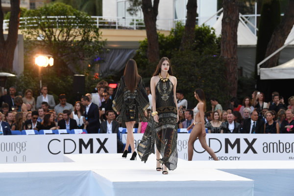 Monte Carlo, Monaco. Friday 26 May 2017. Models at the Amber Lounge Fashion Show, Le Meridien Beach Plaza Hotel, Monaco World Copyright: Mark Sutton/Sutton/LAT Images ref: Digital Image dcd1727my419