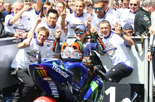 2017 MotoGP Championship - Round 5 Le Mans, France Sunday 21 May 2017 Winner Maverick Viñales, Yamaha Factory Racing World Copyright: Gold & Goose Photography/LAT Images ref: Digital Image 671715