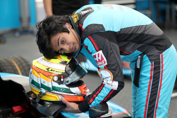 2017 GP3 Series Round 1.  Circuit de Catalunya, Barcelona, Spain. Thursday 11 May 2017.  Arjun Maini, Jenzer Motorsport Photo: Jed Leicester/GP3 Series Media Service. ref: Digital Image JL2_9945