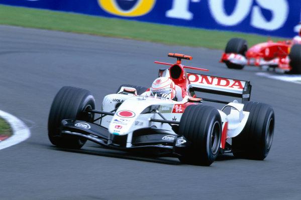 2004 British Grand PrixSilverstone England. 9th - 11th July.Jenson Button, BAR Honda 006. Action. World Copyright:Glenn Dunbar/LAT PhotographicRef:35mm image A11