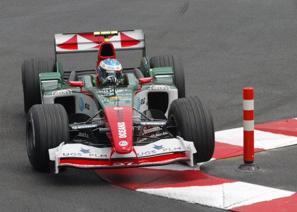 2004 Monaco Grand Prix - Thursday Practice, Monaco. 20th May 2004 Bjorn Wirdheim, Jaguar R5, action.World Copyright: Steve Etherington/LAT Photographic ref: Digital Image Only