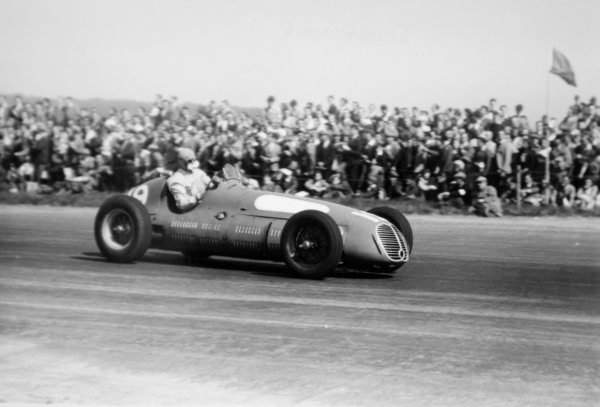 1950 British Grand Prix.Silverstone, Great Britain. 13 May 1950.Louis Chiron (Maserati 4CLT/48). Ref-3734A #7.World Copyright - LAT Photographic