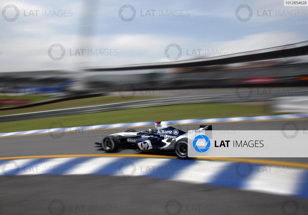 2004 Brazilian Grand Prix - Friday Practice,Interlagos, Sao Paulo, Brazil. 22nd October 2004 Juan Pablo Montoya, WilliamsF1 BMW FW26, action.World Copyright: Steve EtheringtonLAT Photographic ref: Digital Image Only