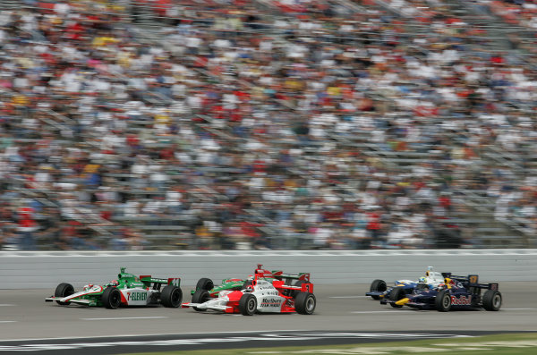 15-17 October, 2004, Texas Motor Speedway, Fort Worth, Texas, Tony Kanaan, Helio Castroneves, Adrian Fernandez, - Michael Kim, USA LAT Photographic