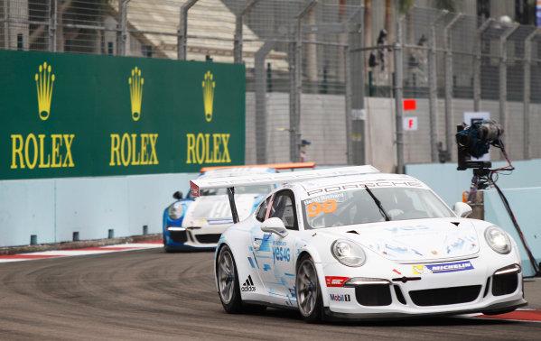 2015 Porsche Carrera Cup Asia Round 11 & 12. Marina Bay Circuit, Singapore. Friday 18 September 2015. Henri Richard, No.98. World Copyright: Sam Bloxham/LAT Photographic. ref: Digital Image _G7C3420